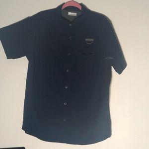 Columbia Blue Button Down Shirt